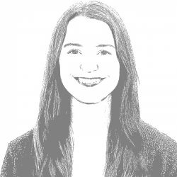 A black and white photo of Anna G