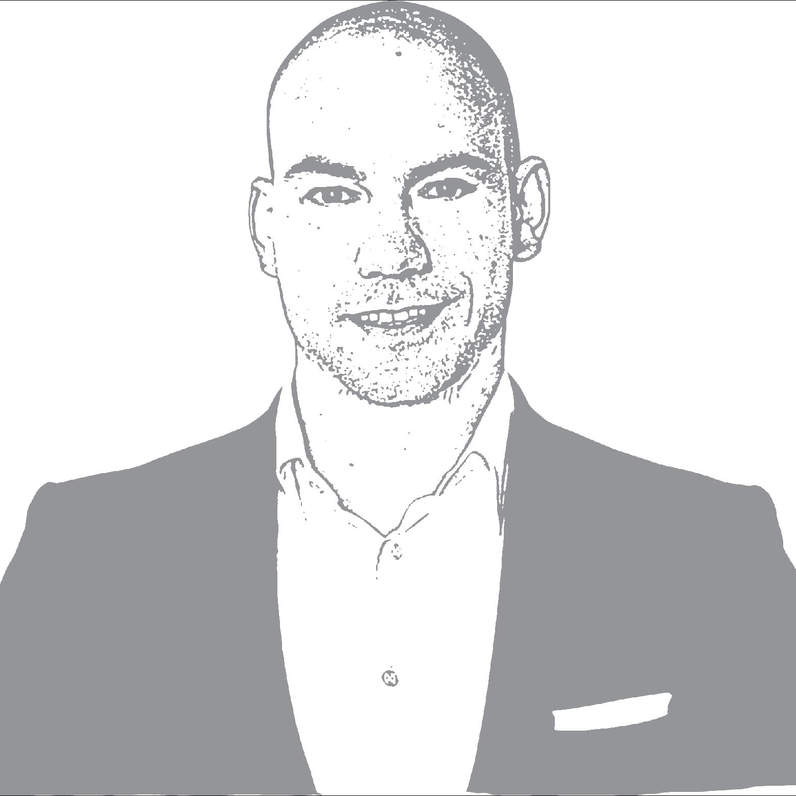 A black and white photo of Matthias