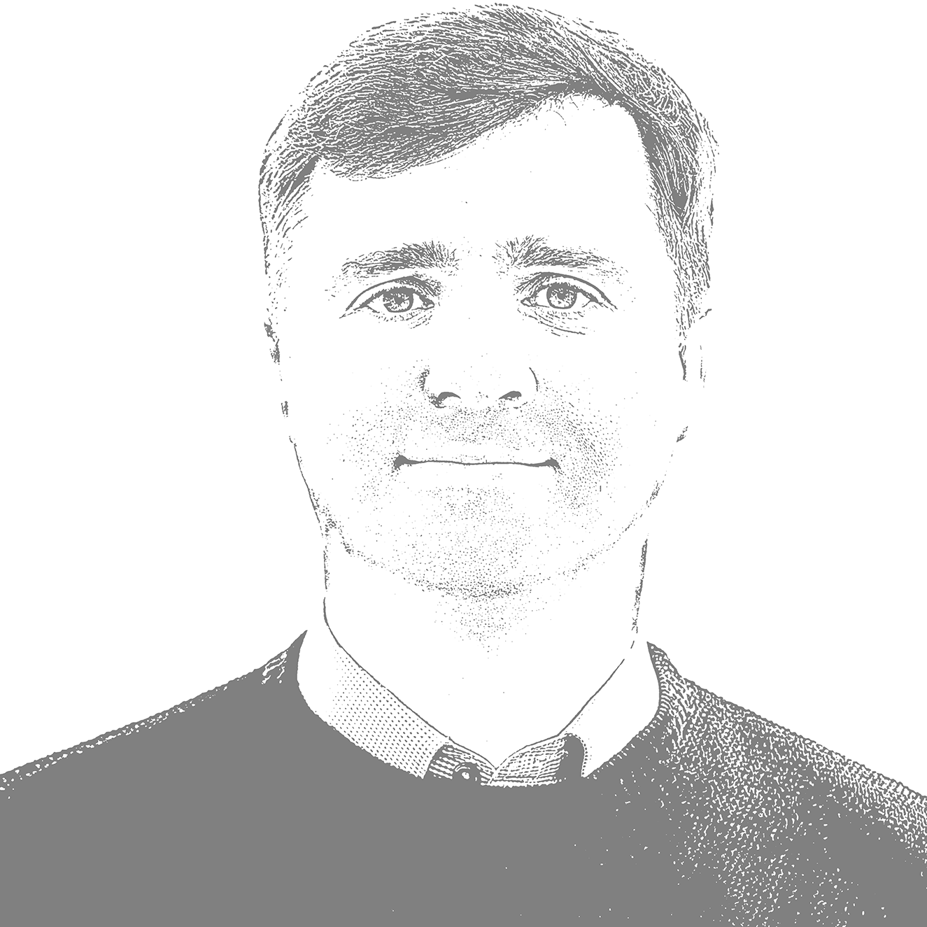 A black and white picture of Oleksandr