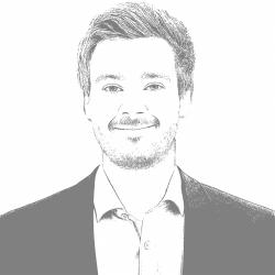 A black and white photo of Thomas H