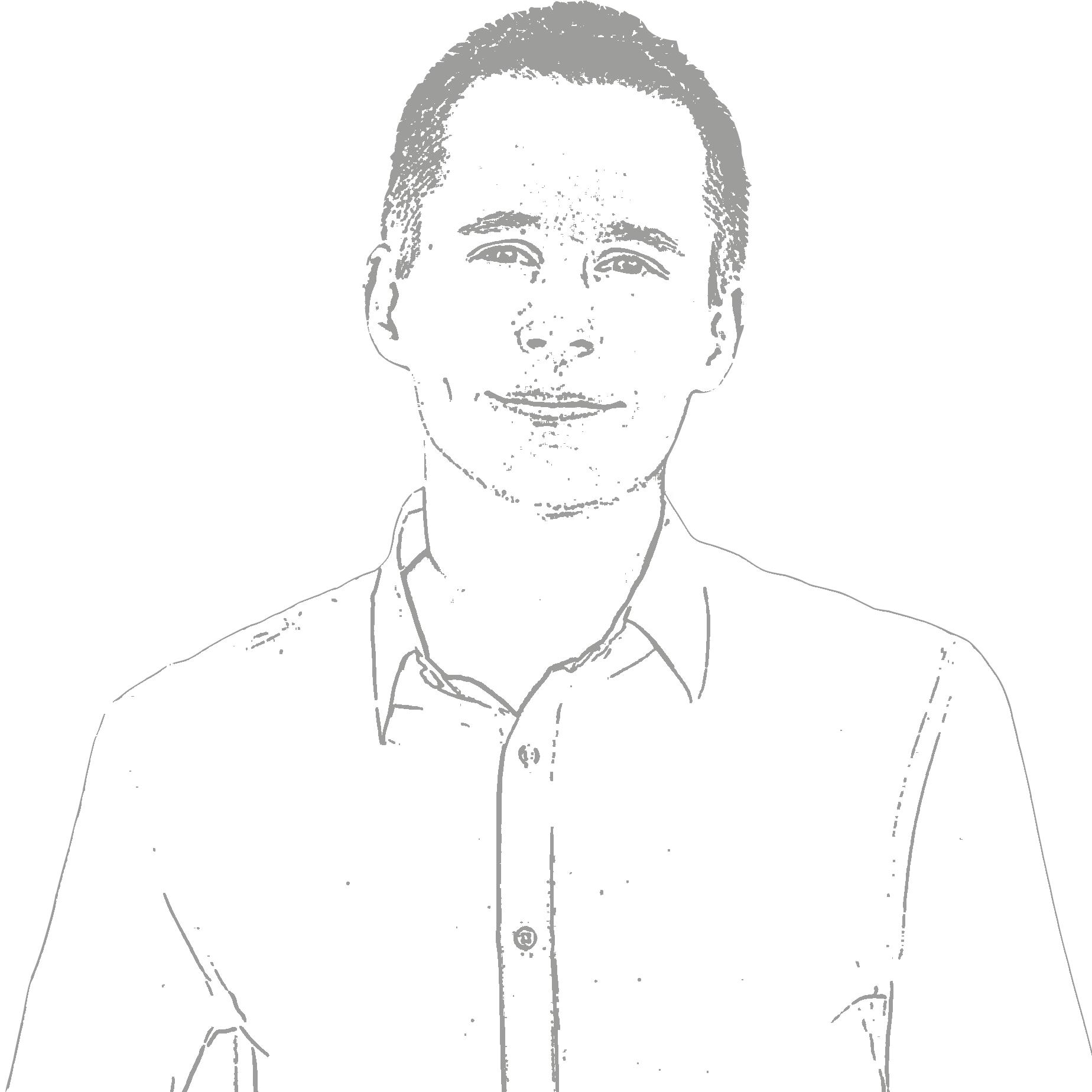 A black and white photo of Thomas K